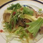 16898974 - 鶏肉の香味ソースとマヨネーズかけ (白玉コース) 3人分