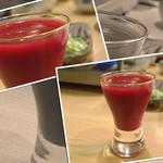 居酒屋たちばな - すっぽんの生き血。日本酒で割ってあります。ほぼ日本酒の味と香りですので、日本酒が飲める人なら平気だと思います(ビジュアルを除く)。