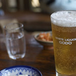 地鶏食堂 - 鶏にはビールが合う