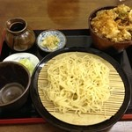 饕餮庵 - セイロ定食(麺は柚子更科)