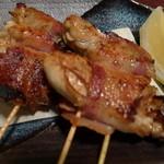 囲坊主 - カキと黒豚ベーコン岸焼き。おいちい!