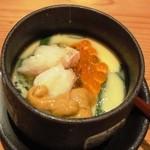 魚三郎 新松戸直売所 - 奥久慈玉子の豪華茶碗蒸し399円