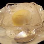 風我亭 - サービスのデザートの桃のソルベです