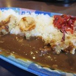 城崎マリンワールド シーランドレストラン - 料理写真:いか天カレー ¥1,050-
