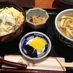 正家 - 親子丼きしめんセット950円@2013.1.20