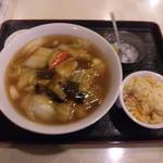 16910529 - 五目麺+半チャーハン!