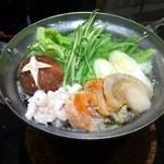 すし 銚子丸 - 白子とあんきもの鍋 2013年1月16日
