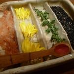 武蔵野そば処 - 種類豊富な薬味