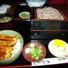 住吉更科 - 料理写真:ミニ穴子丼定食(蕎麦は大盛り)