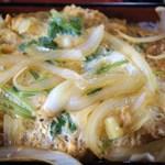 大松 - かつ丼(上から見たところ)
