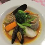 ブラッスリー カズ - 太刀魚のオーブン焼き ブイヤベース風