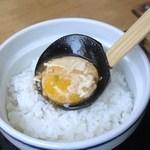 五城 - 玉子はご飯に移すのがポイントですy(^ヮ^)y
