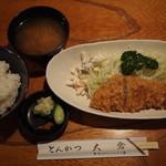 とんかつ 大倉 - 本日のランチ(とんかつ定食)