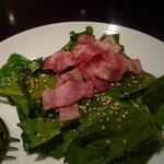 1693511 - ほうれん草とベーコンのサラダ¥955