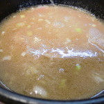 麺堂 香 - スープ割り後のつけ汁