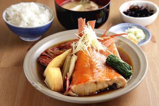海辺 - 金目鯛の煮付け定食