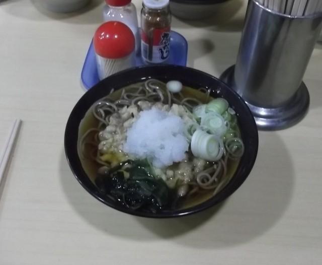 丸富そば - 納豆天ぷらそば430円