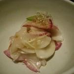 れんげ料理店 - 帆立とかぶと大根のマリネ