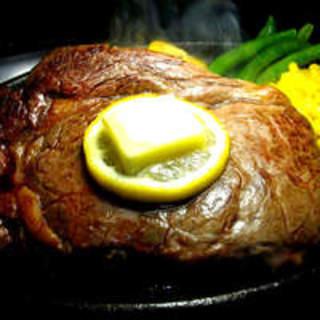 麦黒牛厚切りリブロースステーキをリーズナブルに!