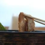 沼津魚がし鮨 - 叉焼の持ち上げ