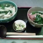 美松寿司 - きつねうどん&天丼