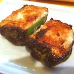 鳥雅 - ピーマンの肉詰め♪  その美味さったらありゃしないwww  もし、溶けるチーズをオンしたら気絶級^_−☆