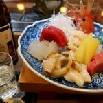寿司竜 - お造りに国稀は、もちろん合う