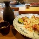 寿司竜 - 稚内産の毛蟹 & 燗酒
