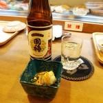 寿司竜 - 日本最北の寿司屋には、日本最北の酒「国稀」が似合う