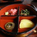 1696691 - 薬味の紅生姜、山菜、沢庵他