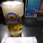 串平 - 2013.01 とりあえず生!ですがジョッキの冷え具合とか生ビールにあまり愛情は注がれていません。