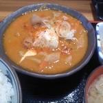 16964792 - もつ煮定食 ¥730