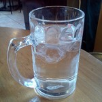 GERMAN FARM GRILL - 水がジョッキで出た!