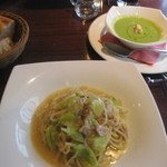 16975468 - Aランチ:パスタ・スープ・パン2種