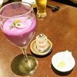 16976185 - 紫芋の自家製豆腐 550円