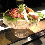 yaki yaki dining Satomi  - 地鶏刺身盛り合わせ