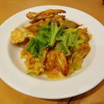 スパゲッティ食堂ドナ - 蟹のリッチなソースで〜♬