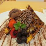 ゆめいろCafe - チョコレートワッフル