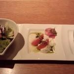 16984460 - オードブル・プチサラダ・スープ(ボヌールセット)