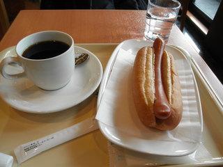 ドトールコーヒーショップ - ジャーマンドッグとブレンドコーヒー