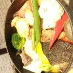 16985536 - 魚とホタテのココット