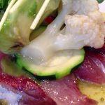 ミノビ - 鮮魚(寒ブリ)のカルパッチョ