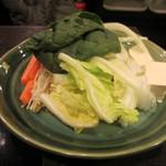 鍋ぞう - 野菜盛り合わせアップ