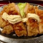 かっぽうぎ - 三品定食650円(チキン南蛮)