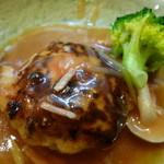 16995896 - 鶏ハンバーグの餡かけ
