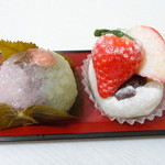 16998209 - いちご桜餅&いちご白玉大福