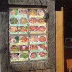 パッポン食堂  - 珍品堂 外壁のメニュー