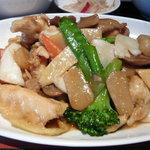 1700483 - モンゴイカと季節野菜の醤炒め