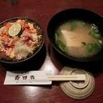 寿司吉 - 至福の香箱丼(汁物付き)