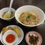 ノング インレイ - 4回目2013年1月25日 Aセット700円 シャンそば 汁なしと揚げ豆腐